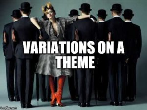 Saturday Discussion: Variations on a Theme